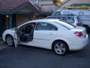 Our car and first motel